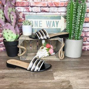 Bella Vita Eli-Italy Sandals Black Slides New 12M